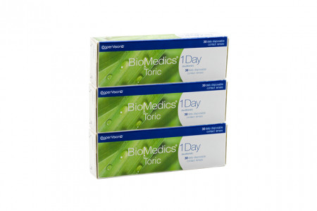 Biomedics 1 day Extra toric 90 Tageslinsen