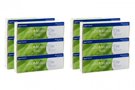 Biomedics 1 day Extra toric 4 x 90 Tageslinsen Sparpaket 6 Monate