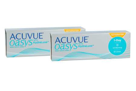 Acuvue Oasys 1-Day for Astigmatism with HydraLuxe, 2x 30 Stück