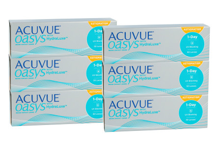 Acuvue Oasys 1-Day for Astigmatism with HydraLuxe, Sparpaket für 3 Monate 2x 90 Stück