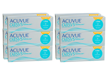 Acuvue Oasys 1-Day for Astigmatism 2x180 Tageslinsen Sparpaket für 6 Monate