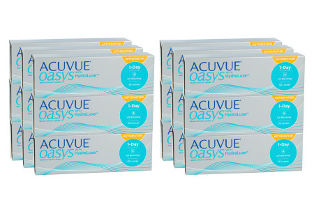 Acuvue Oasys 1-Day for Astigmatism with HydraLuxe, Sparpaket für 9 Monate 2x 270 Stück