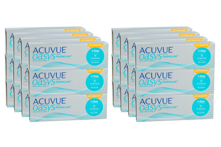 Acuvue Oasys 1-Day for Astigmatism with HydraLuxe, Sparpaket für 12 Monate 2x 360 Stück