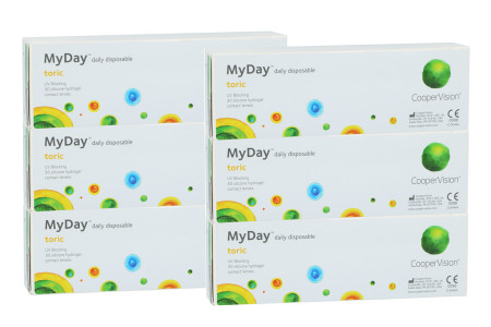 MyDay daily disposable toric, Sparpaket 3 Monate 2x 90 Stück