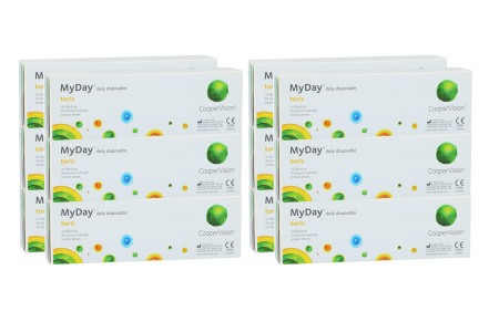 MyDay daily disposable toric, Sparpaket 6 Monate 2x 180 Stück