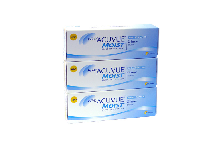Image of 1-Day Acuvue Moist for Astigmatism, 90 Stück