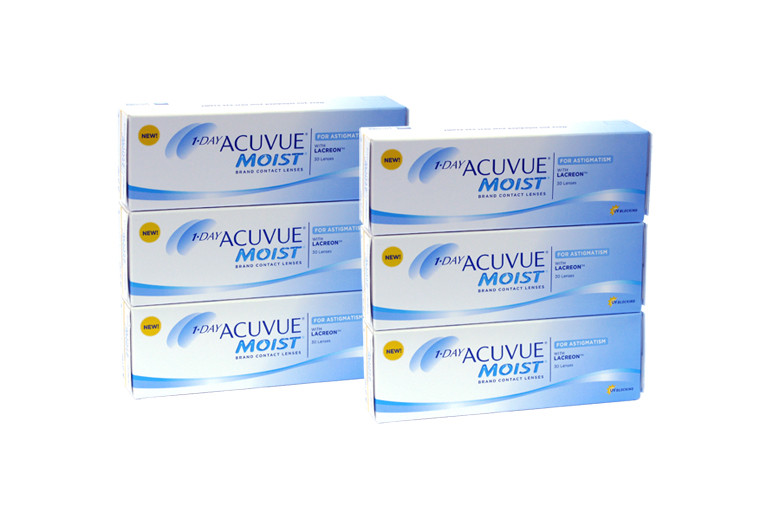 Image of 1-Day Acuvue Moist for Astigmatism, Sparpaket 3 Monate