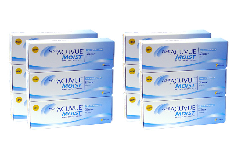 Image of 1-Day Acuvue Moist for Astigmatism, Sparpaket 6 Monate