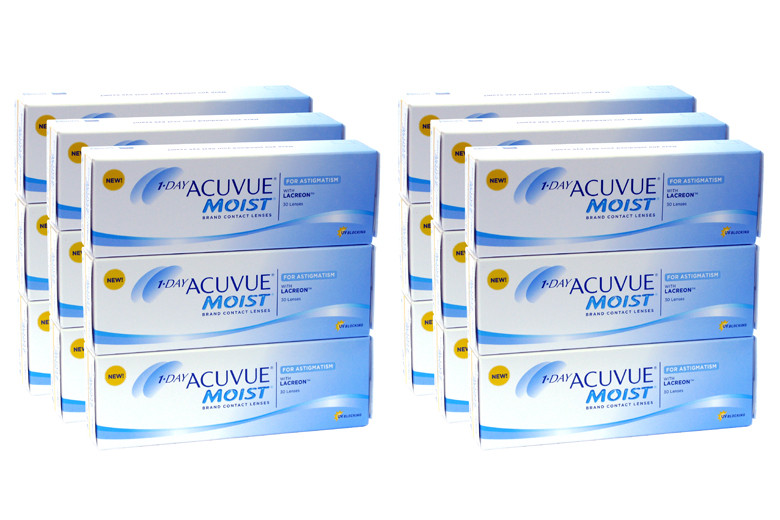 Image of 1-Day Acuvue Moist for Astigmatism, Sparpaket 9 Monate