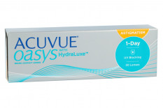 Acuvue Oasys 1-Day for Astigmatism with HydraLuxe, 30 Stück